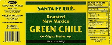 Santa Fe Ole Standard Label Layout